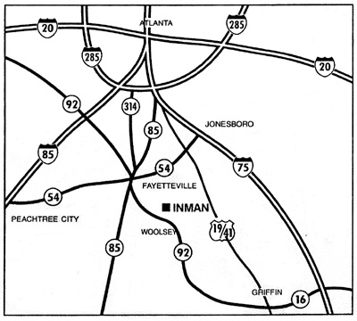 Map to Inman